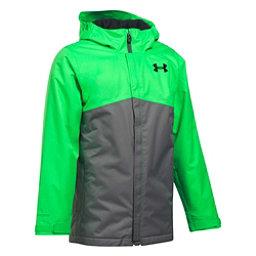 Under Armour ColdGear Infrared Freshies Boys Ski Jacket, Lime Twist-Graphite, 256