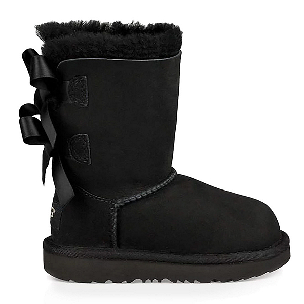 UGG Bailey Bow II Girls Boots, Black, 600