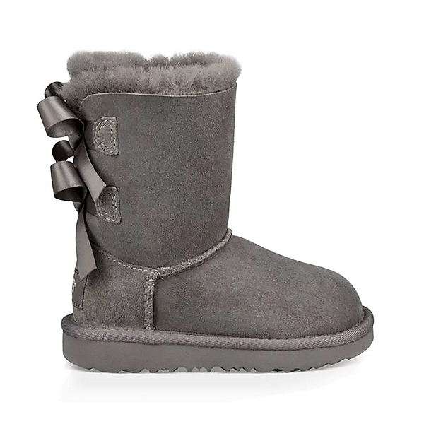 UGG Bailey Bow II Girls Boots, Grey, 600