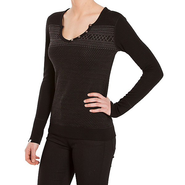 We Norwegians Setesdal Henley Womens Sweater, , 600