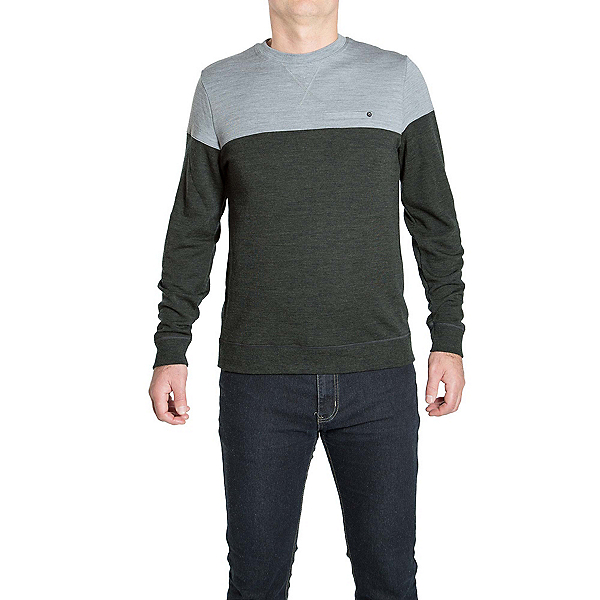 We Norwegians Base Two Colorblock Crew Mens Sweater, Sottobosco, 600