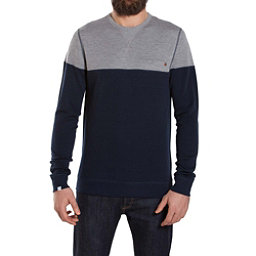 We Norwegians Base Two Colorblock Crew Mens Sweater, Navy Blue, 256