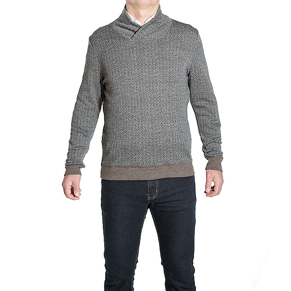 We Norwegians Fiskebein Shawl Collar Mens Sweater, Marmotta, 600