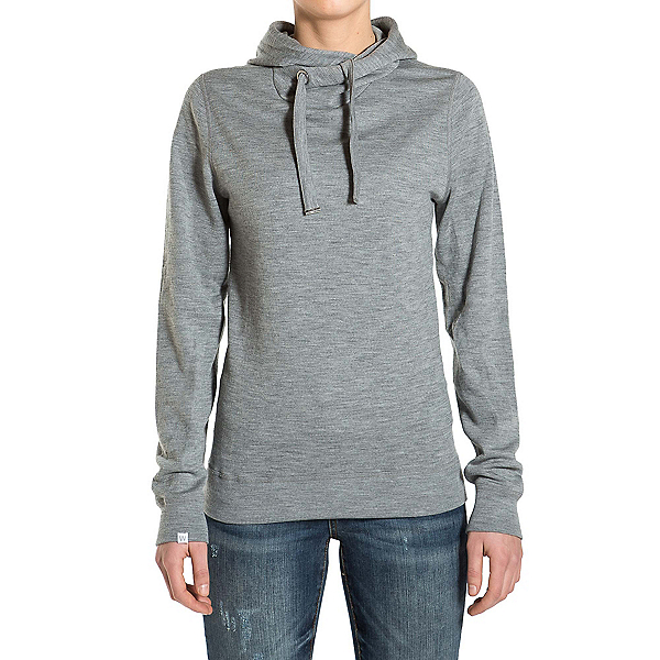 We Norwegians Base Two Hoodie Womens Sweater, Grey Melange, 600