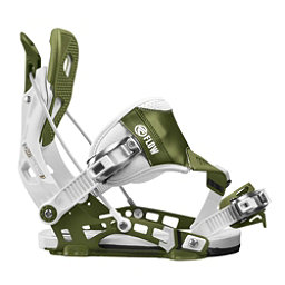 Flow NX2 Hybrid Snowboard Bindings, White-Green, 256