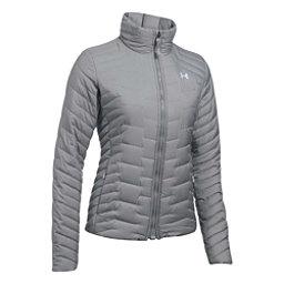 Under Armour ColdGear Reactor Womens Jacket, True Gray Heather-Overcast Gra, 256
