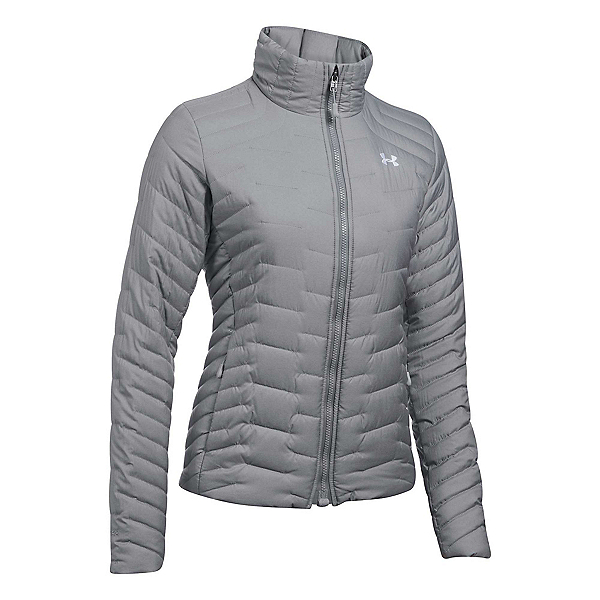 Under Armour ColdGear Reactor Womens Jacket, True Gray Heather-Overcast Gra, 600