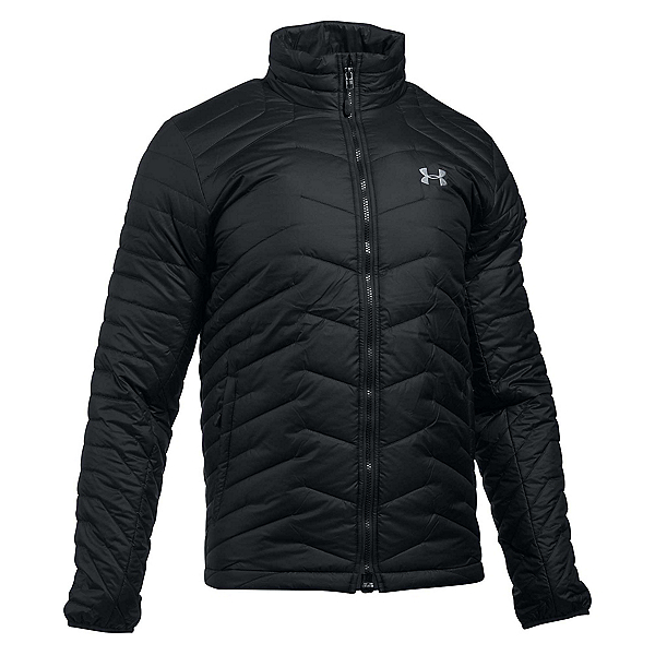 Under Armour ColdGear Reactor Mens Jacket, Black-Steel, 600