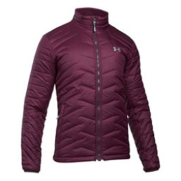 Under Armour ColdGear Reactor Mens Jacket, Raisin Red-Rhino Gray, 256