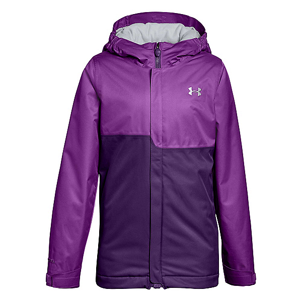Under Armour ColdGear Infrared Freshies Rideable Girls Ski Jacket, Purple Rave-Indulge, 600