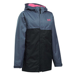 Under Armour ColdGear Infrared Freshies Rideable Girls Ski Jacket, Apollo Gray-Black, 256