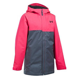 Under Armour ColdGear Infrared Freshies Rideable Girls Ski Jacket, Penta Pink-Apollo Gray, 256