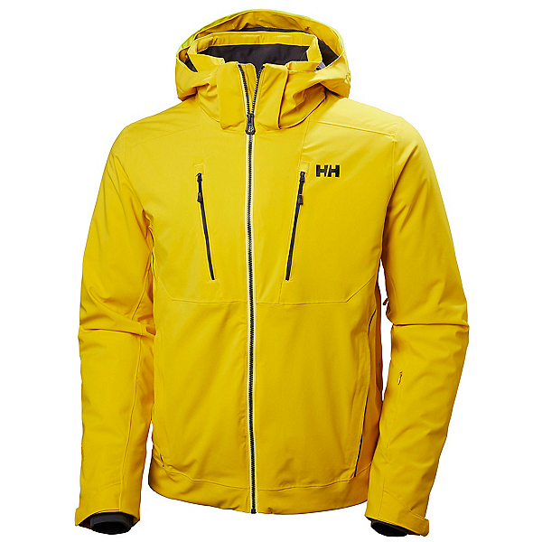 Helly Hansen Alpha 3.0 Mens Insulated Ski Jacket, Sulphur, 600