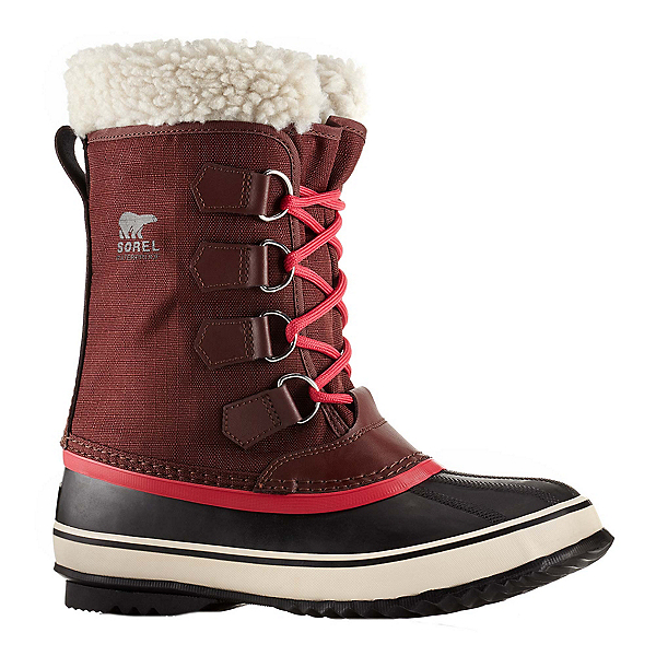 Sorel Winter Carnival Womens Boots, Redwood-Candy Apple, 600