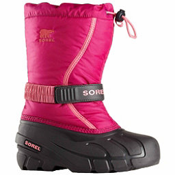 Sorel Flurry Girls Boots, Deep Blush-Tropic Pink, 256