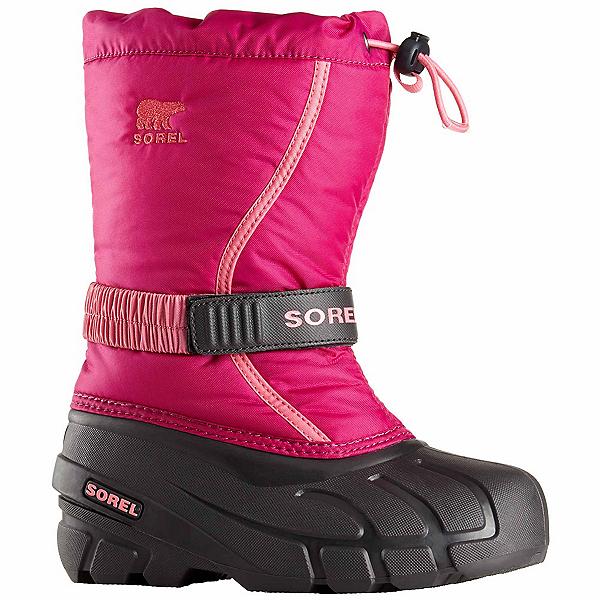 Sorel Flurry Girls Boots, Deep Blush-Tropic Pink, 600