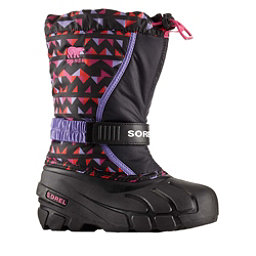 Sorel Flurry Print Girls Boots, Black-Pink Ice, 256