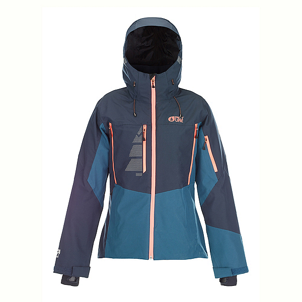 Picture Seen Womens Insulated Ski Jacket, Dark Blue-Petrol Blue, 600
