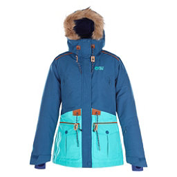 Picture Apply Womens Insulated Ski Jacket, Dark Blue-White, 256