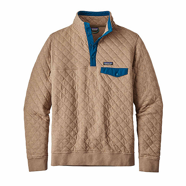 Patagonia Cotton Quilt Snap-T Mens Mid Layer, Mojave Khaki, 600