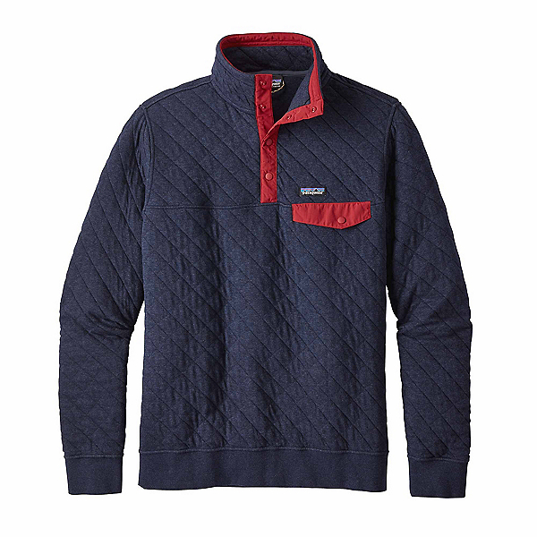Patagonia Cotton Quilt Snap-T Mens Mid Layer, Navy Blue, 600
