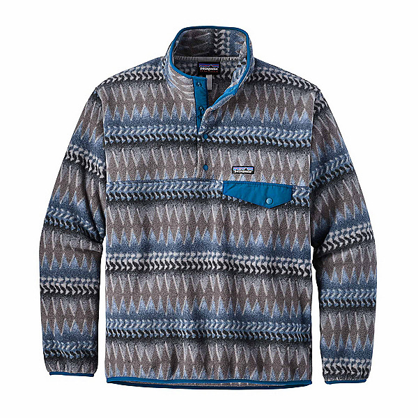 Patagonia Lightweight Synchilla Snap-T Mens Mid Layer, Laughing Waters Smolder Blue, 600