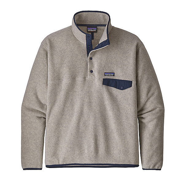 Patagonia Lightweight Synchilla Snap-T Mens Mid Layer, Oatmeal Heather, 600