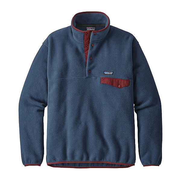 Patagonia Lightweight Synchilla Snap-T Mens Mid Layer, Stone Blue, 600