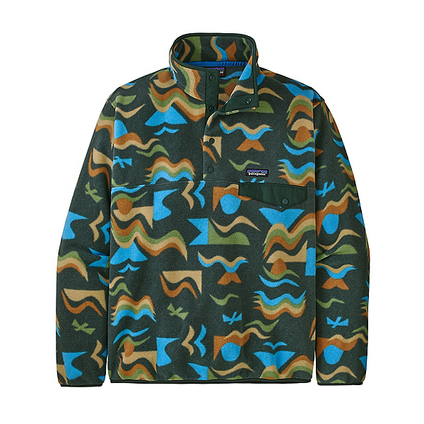 Patagonia Lightweight Synchilla Snap-T Mens Mid Layer 2022, Arctic Collage: Northern Green, 600