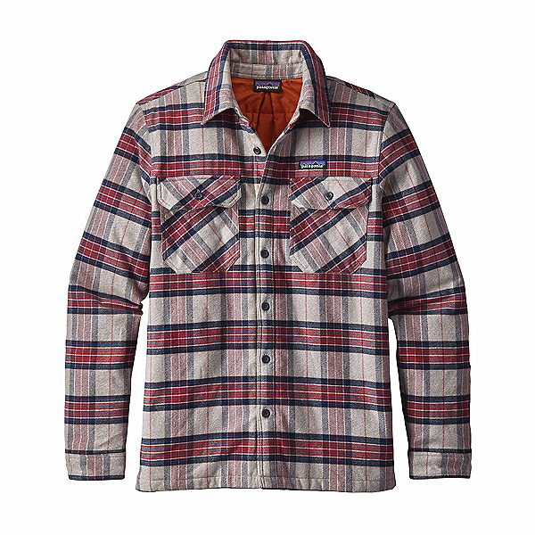 Patagonia Insulated Fjord Flannel Flannel Shirt, Migration Plaid-Drumfire Red, 600