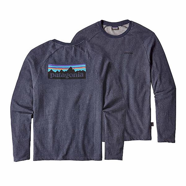 Patagonia P-6 Logo Lightweight Crew Sweatshirt, Navy Blue, 600