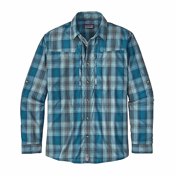 Patagonia Long Sleeved Sun Stretch Mens Shirt, Costa Filter Blue, 600
