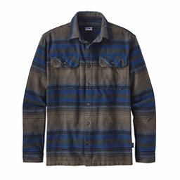 Patagonia Long Sleeved Fjord Flannel Shirt, Blanket Stripe Navy Blue, 256