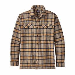 Patagonia Long Sleeved Fjord Flannel Shirt, Migration Plaid Mojave Khaki, 256