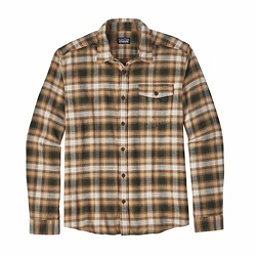 Patagonia Long Sleeved Lightweight Fjord Flannel Shirt, Revival Bear Brown, 256