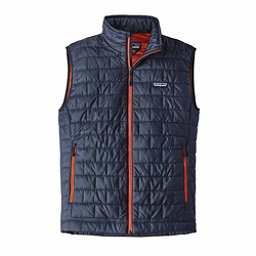 Patagonia Nano Puff Mens Vest, Navy Blue-Paintbrush Red, 256