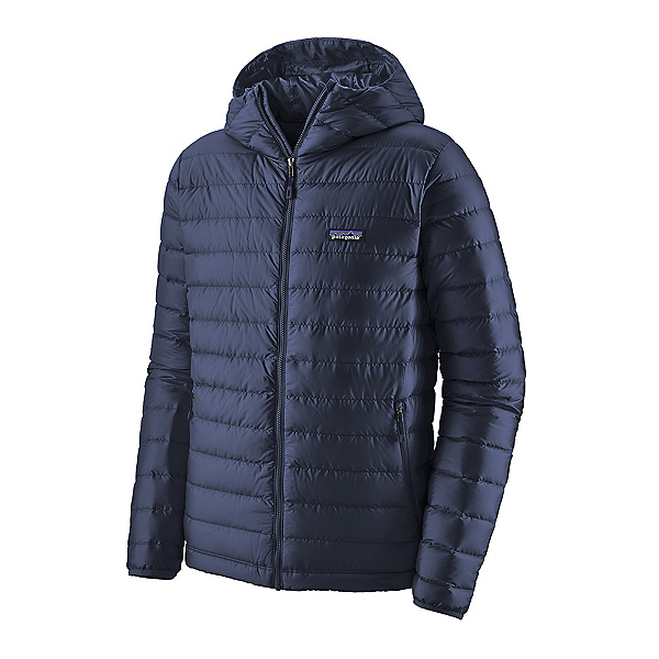 Patagonia Down Sweater Hoody Mens Jacket, Classic Navy, 600