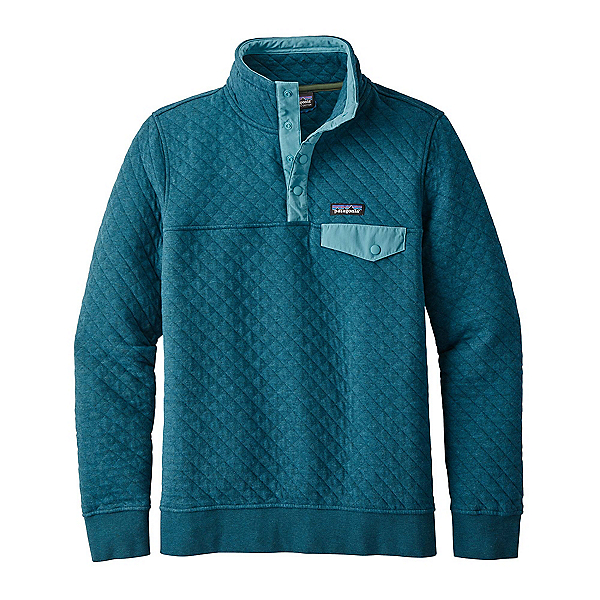 Patagonia Cotton Quilt Snap-T Womens Mid Layer, Elwha Blue, 600