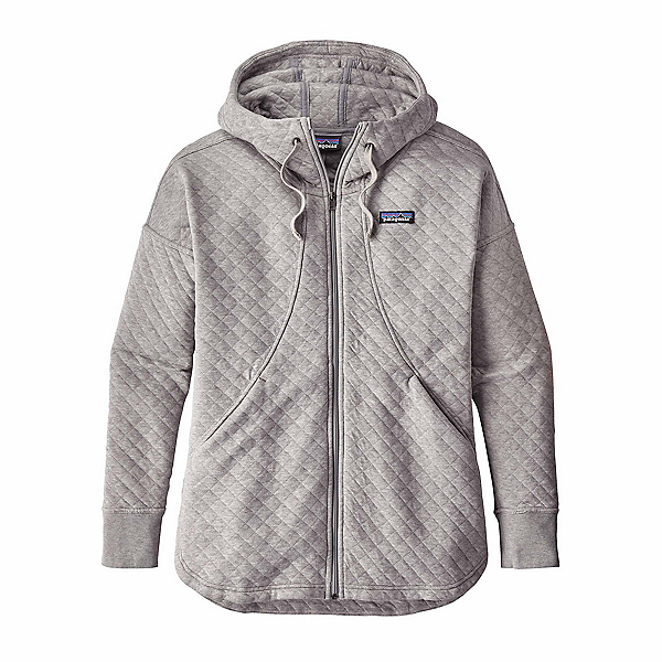 Patagonia Cotton Quilt Womens Hoodie, Drifter Grey, 600