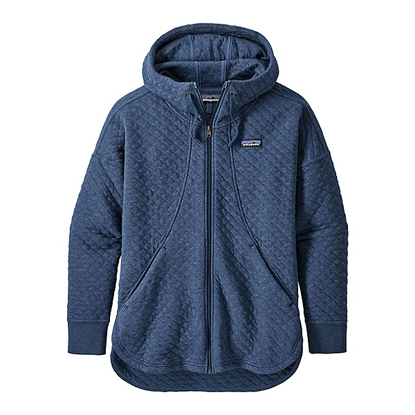 Patagonia Cotton Quilt Womens Hoodie, Stone Blue, 600
