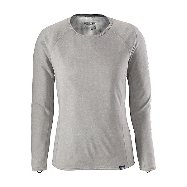 Patagonia Capilene Midweight Crew Womens Long Underwear Top, Feather Grey-Tailored Grey X D, 600