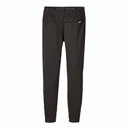Patagonia Capilene Midweight Womens Long Underwear Pants, Black, 256