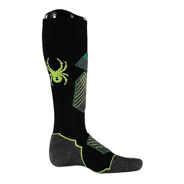 Spyder Explorer Ski Socks, Black-Amazon-Bryte Yellow, 600