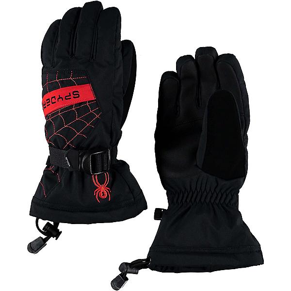 Spyder Overweb Kids Gloves, Black-Red, 600