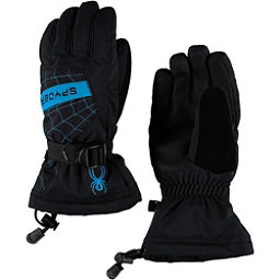 Spyder Overweb Kids Gloves, Black-French Blue, 256