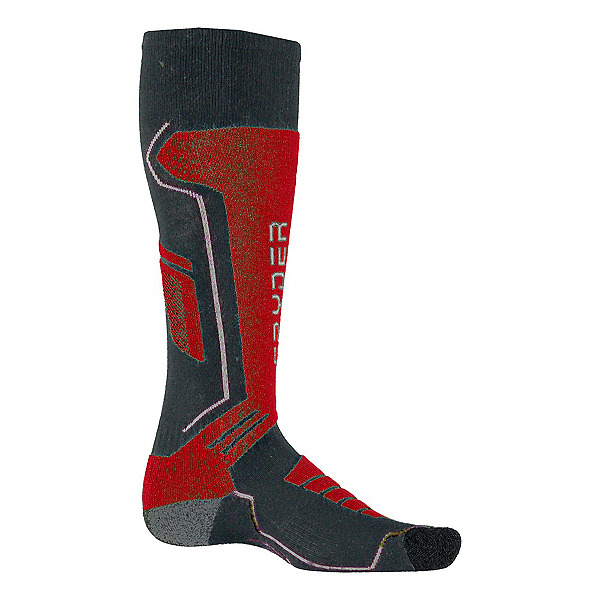 Spyder Sport Merino Kids Ski Socks, Polar-Red-White, 600