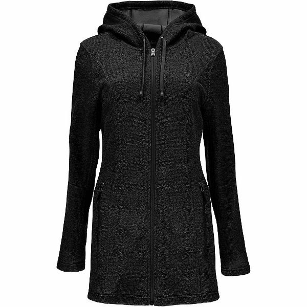 Spyder Endure Novelty Long Midweight Stryke Fleece Womens Sweater, Black-Black, 600