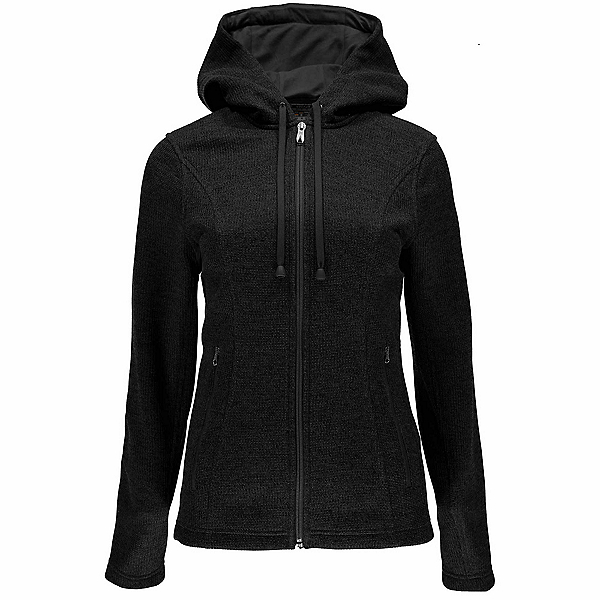Spyder Endure Novelty Hoody Midweight Stryke Fleece Womens Sweater, Black-Black, 600