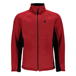 Spyder Foremost Full Zip Mens Sweater, Red-Black, 256