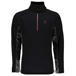 Spyder Outbound Half Zip Mens Sweater, Black-Polar, 256